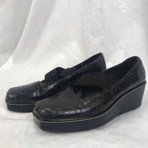 Donald J Pliner Black Pela Wedge Shoes Sz 6